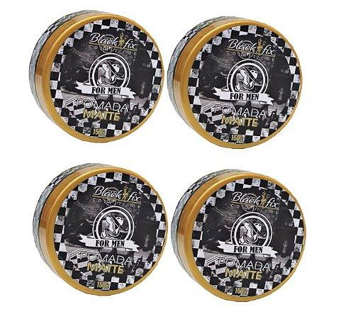 Pack Pomadas Modeladoras Black Fix Efeito Matte (150g) - Escolha a Quantidade: 4, 6 ou 8 Unidades