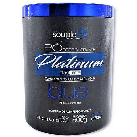 Pó Descolorante Profissional Platinum Dust Free Blue - 500g - Souple Liss