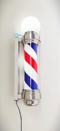 Barber Pole com Globo 65 cm - Acende e Gira (110v ou 220v)