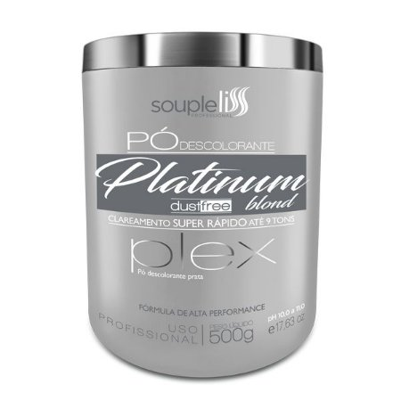Souple Liss Pó Descolorante Platinum Blond Plex 500g