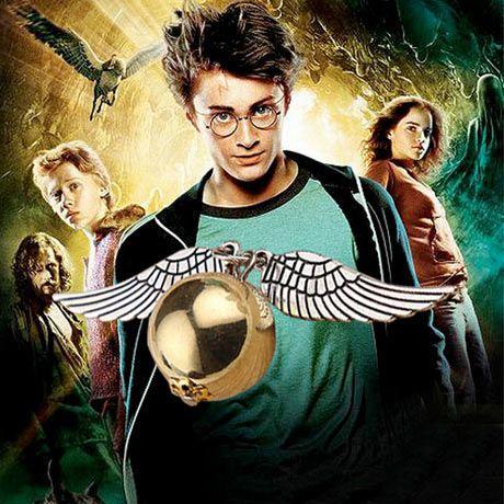 Colar Pomo de Ouro Harry Potter Colar de Asas