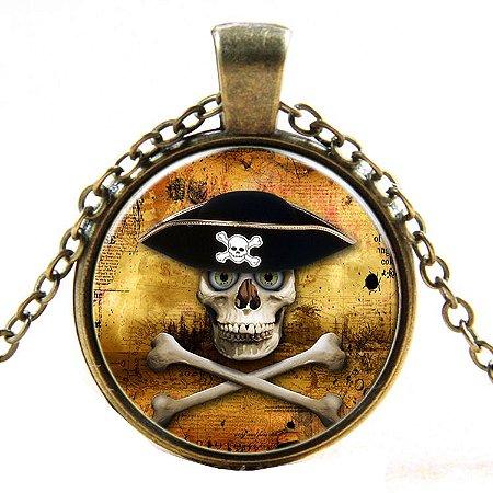 Colar da Liga Piratas do Caribe Crânio