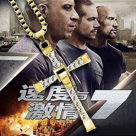 Colar Filme Velozes e Furiosos 8 Dominic Toretto Amarelo Ouro