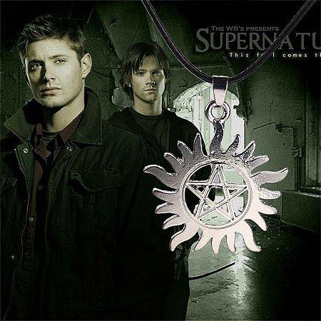 Colar Pentagrama Sam Dean Winchester Supernatural