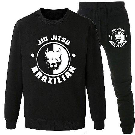 Conjunto Moletom Calça Flanelado Brazillian Jiu Jitsu