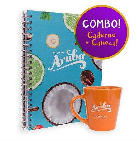 Combo Caderno + Caneca Aruba