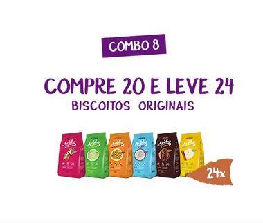 Combo 08 -  Compre 20 Biscoitos Aruba Original e Leve 24