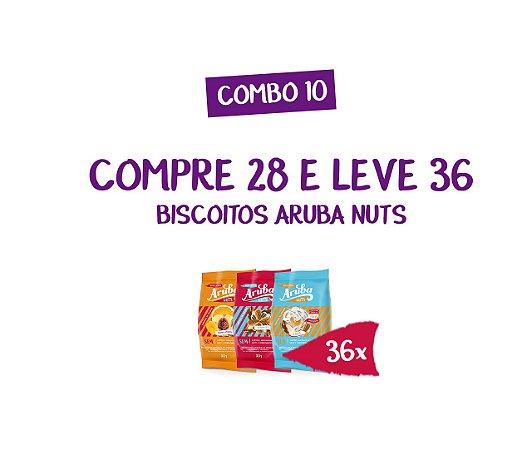 Combo 10 - Compre 28 Biscoitos Aruba Nuts e Leve 36