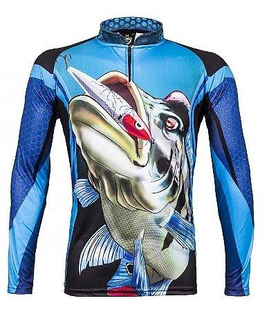 Camiseta De Pesca Manga Longa Atack 07 Tucunare King Brasil 554b00bd1231d