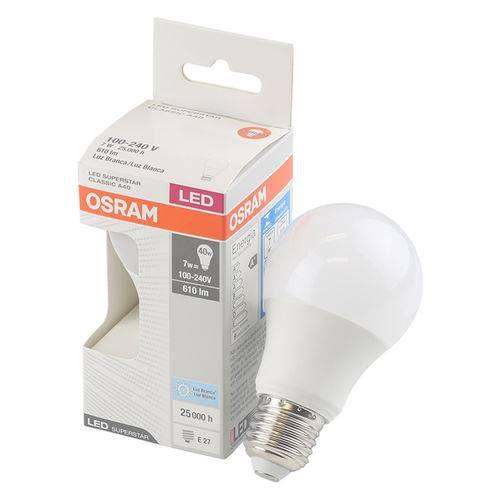 LAMPADA LED PERA 7W 6000K OSRAM BIV