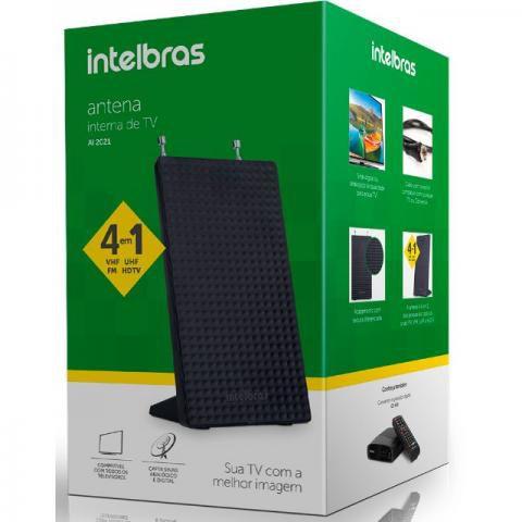 Antena Interna para TV Digital Intelbras AI 2021 VHF, UHF, FM e HDTV Digital