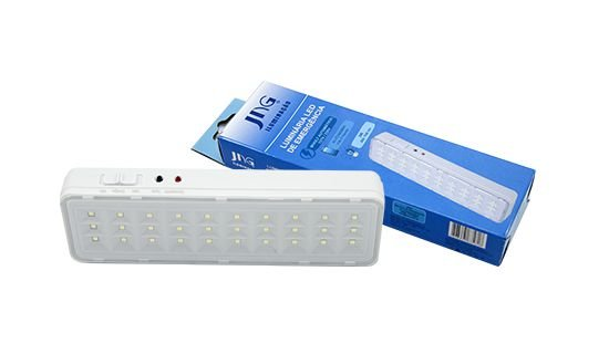 LUZ EMERGENCIA 30 LEDS BIVOLT JNG 2W