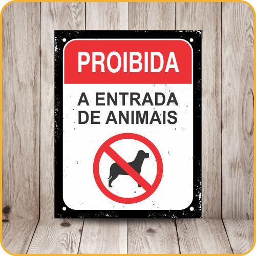 SINALIZE POLIETILENO 18X23 DEC46 PET PROIBIDA ENTRADA DE ANIMAIS