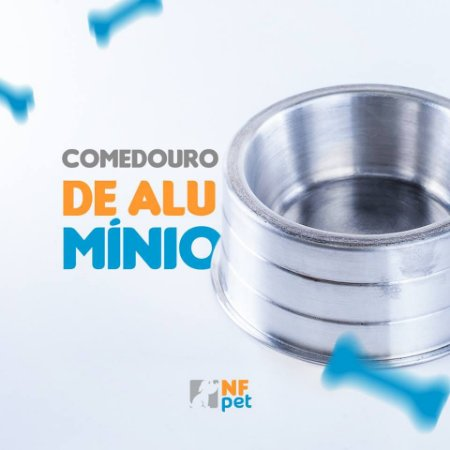 COMEDOURO ALUMINIO PESADO FILHOTE 150ML NFPET