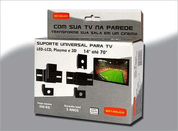 """SUPORTE UNIVERSAL P/TV LED-LCD 14"""" ATÉ 100"""""""