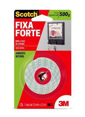 FITA FIXA FORTE 3M SCOTCH 15CM SUPORTE ATÉ 500G ESPUMA 12MMX5M