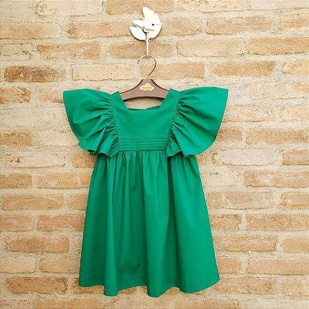 Vestido Infantil Violeta Verde