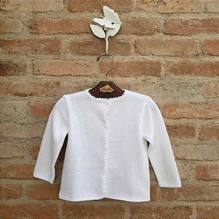 Casaco de Tricot Infantil  Branco