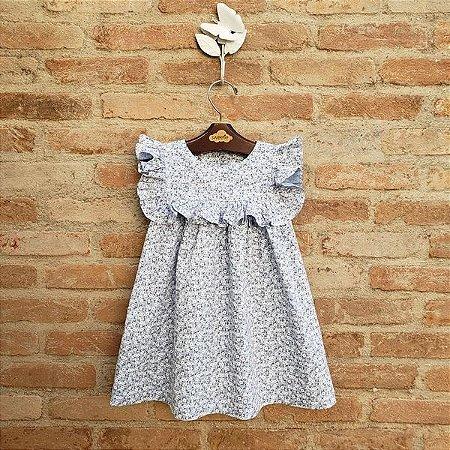 Vestido Infantil Milão Floral Azul Bebê