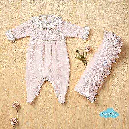 Kit Sweetie Maternidade Friso Rosa Bebê