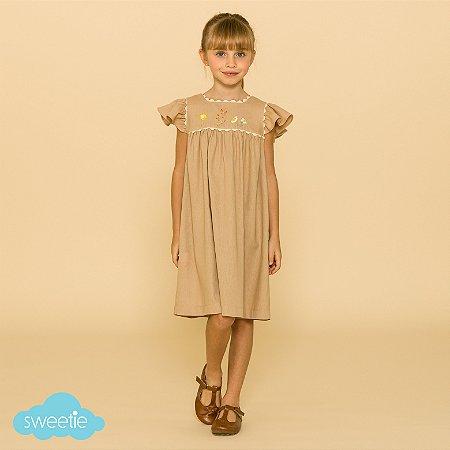 Vestido Roma Linho Bege