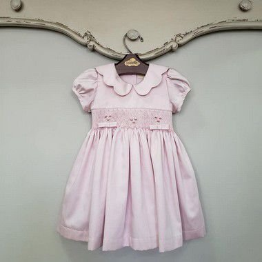 Vestido Bordado Gola Matame Rosé