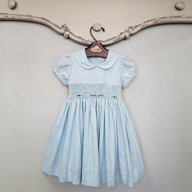 Vestido Bordado Viena Viscolinho Azul