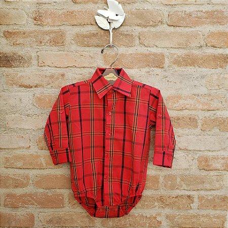 Camisa Body Menino Xadrez Antigo