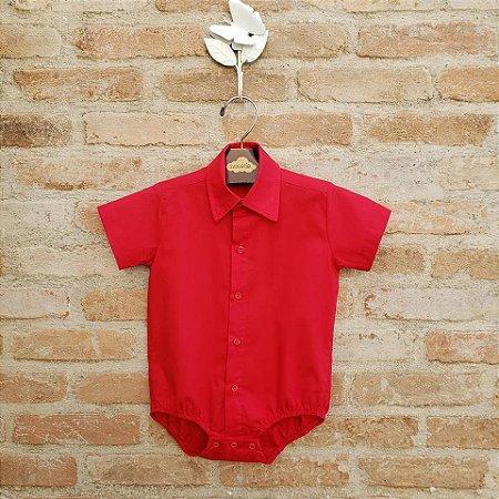 Camisa Body Manga Curta Vermelha