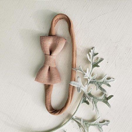 Faixa de Laço Bebê Rosa Antigo