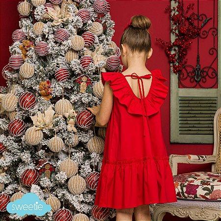 Vestido Hibisco Vermelho