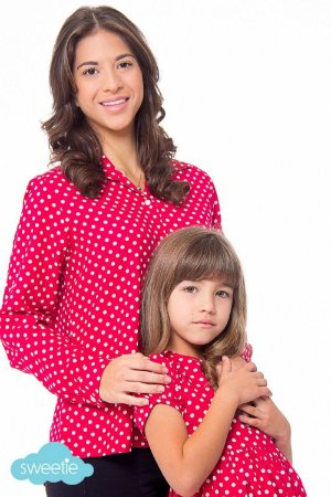 Camisa Mãe Pois Red