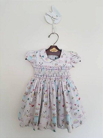 Vestido casinha de baleha balões Girl