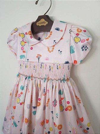 Vestido Casinha de Abelha  Jardim