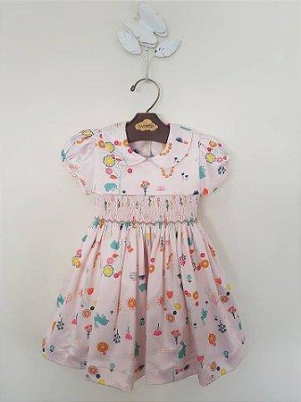 Vestido Casinha de Abelha Jardim Girl