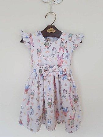 Vestido Castor Manga Abinha Girl