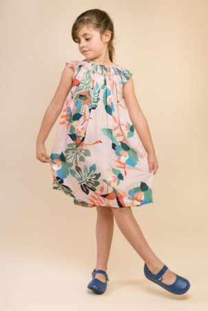 Vestido batinha bordado Floral Rosa