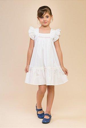12b325e92 Vestido bordado babado off - Sweetie | Moda Festa Bebê e Infantil