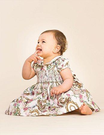 Vestido bordado Luxury Versailles Bebe