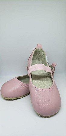 Sapato em couro Rosa bebê