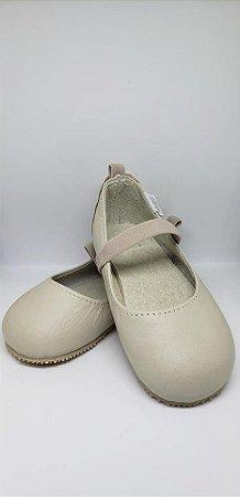 Sapato em couro Bege