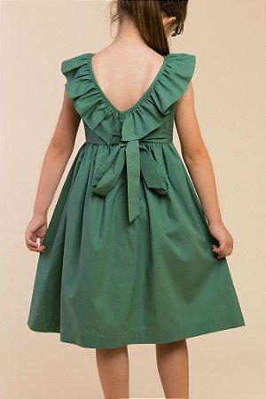 Vestido babado Green