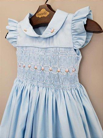 Vestido Casinha de bordado Beatriz Infantil