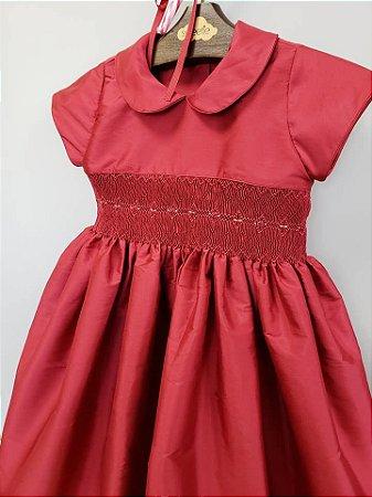 Vestido bordado Tafeta