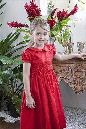 Vestido bordado tulipa Infantil
