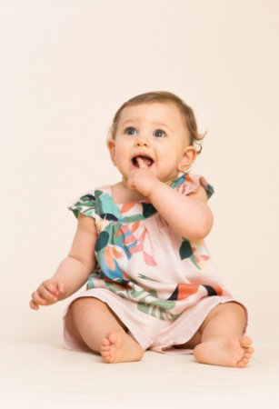 Cjto bata short Bebe floral rosa
