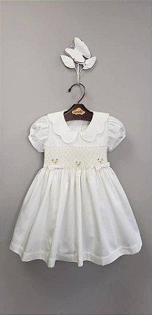Vestido bordado dior infantil 400 fios