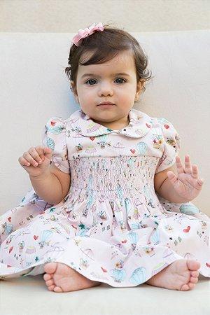 Vestido Bordado baloes bebe