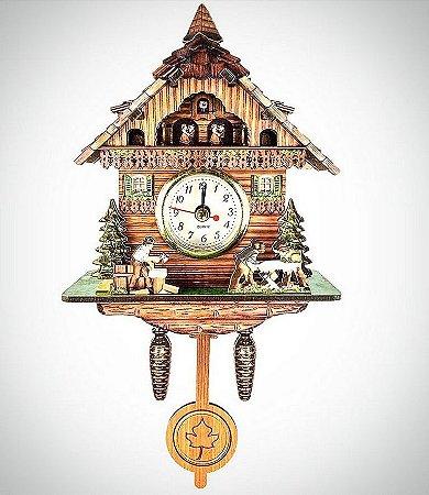 Relógio Replica cuco chale lenhadores ilustritto