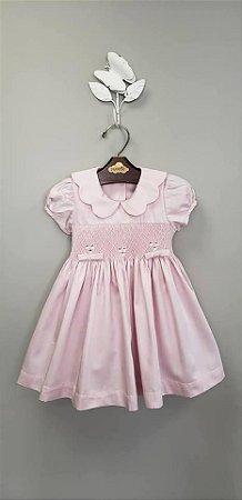 Vestido bordado chanel infantil 400 fios